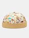 Unisex Mushroom Overlay Pattern Fashion Personality Brimless Beanie Landlord Cap Skull Cap - Khaki
