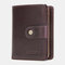 Women Genuine Leather RFID Multi-function Multi Card Slots Casual Solid Color Brief Card Holder Wallet - Coffee