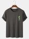 Mens Alien Graphics 100% Cotton Short Sleeve Casual T-Shirt - Dark Gray