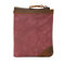 Canvas Vintage Wallet Bifold 8 Card Slot Coin Purse For Men - Red