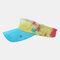Color Tie-dye Empty Top Hat Outdoor Sun Hat - Yellow