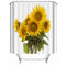 180X180cm Sunflower Polyester Printing Waterproof Mildew Shower Curtain - Shower Curtain