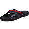 Men Leather Non Slip Large Size Soft Sole Casual Beach Slippers