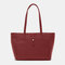 Women Large Capacity 14 Inch Laptop Bag Shoulder Bag Tote - Red