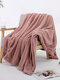 Double Sided Pure Color Blanket Sofa Cover Blanket Office Lunch Break Blanket - Pink