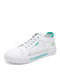 Women Casual Mesh Breathable Brief Lace Up Comfortable Flat Court Sneaker Shoes - Green