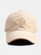 Unisex Cotton Solid Letters Pattern Patch Fashion Sunshade Soft Top Baseball Cap - Beige