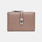 Women Hollow Out Coin Purse 6 Card Slots Wallet - Brown