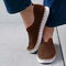 Women Solid Color Hollow Brathable Non Slip Casual Shoes - Coffee