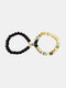 1 Pair Vintage Magnet Attract Couple Bracelet Crystal Stone Beaded Bracelet Valentine's Day Gift Boyfriend Gifts - #07