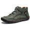 Menico Men Microfiber Leather Hand Stitching Comfort Soft Casual Shoes - Green
