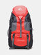 Casaul Oxford 50L Large Capacity Waterproof Smooth Zipper Summer Travel Multifunction Backpack - Red