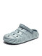 Large Size Women Breathable Hollow 2 Wearing Way Beach Sandals - Blue