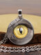 Vintage Alloy Glass Printed Women Necklaces Crocodile Eyes Pendant Sweater Chain - #10