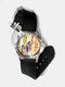 Casual Watercolor Women Wrist Watch PVC Band Leaf Bird Fruit Pattern Men Quartz Watch - #09