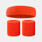 15 colori Soft Set di fascia per lo sport con fascia da polso per asciugamano Set di fascia per la fascia assorbente da sudore per sport sportivo - 9