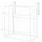 Double Chopping Board Wrought Iron Free Punching Wall Hanging Cabinet Rack - White