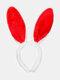 Accessoires de cheveux de femmes de pâques mignon oreilles de lapin coiffe enfants bandeau - rouge