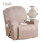 <US Instock> Waterproof Non Slip Suede Stretch Recliner Slipcover Soft Sofa Arm Chair Cover - #02