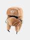 男性と女性の防寒冬用トラッパーハットマスクトラッパーハット付きの厚い冬用ハット耳栓 - #11