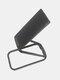 1PC亜鉛合金ユニバーサル折りたたみ式携帯電話アクセサリーブラケット360回転ダブルフィンガーリフトリングホルダー車携帯電話用磁気マウントスタンド - 黒