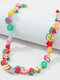Vintage Country Style Variety Of Fruits Beads Beaded Resin Alloy Beads Necklace - #01