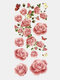 28 Pcs Disposable Tattoos Stickers Colored Plum Blossom Rose Peach Waterproof Temporary Tattoos - 28