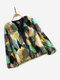 Multi-color Faux Fur Long Sleeve Vintage Coat