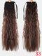 10 цветов конский хвост Волосы удлинительный галстук Веревка кукурузная пермская коса длинный вьющийся хвост - #08