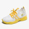 Women Knitted Striped Detai Comfy Breathable Sports Sock Casual Sneakers - Yellow