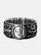 Punk Sun Moon Ring Thai Silver Flower Ring - Silver