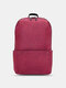 Oxford Multicolor Minimalist Stress Reliever Splashproof Breathable Outdoor Travel Backpack - Dark Red