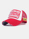 Unisex Cotton Patch Letter Embroidery Pattern Fashion Hip-hop Style Sunshade Baseball Hat - Red
