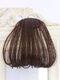 Mini Bangs Air Bangs Hair Extensions No-Trace Bangs Wig Piece - AP330 Dark Brown