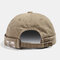 COLLROWN Men & Women Washed Cotton Brimless Hats Adjustable Skull Caps - Khaki