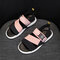 Women Wearable Elastic Band Color Block Casual Flat Sandals - Pink