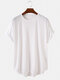 Mens Basic Solid Color Casual Breathable & Thin O-Neck T-Shirts - White