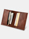 Vintage Quilted Exquisite Hardware Rivet Decor Card Holder Wallet For Business Women - Coffee