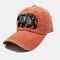 Embroidery Baseball Cap Cartoon Cute Bear Cap Sun Hat - Orange