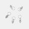 5個/パックパーソナリティカジュアルヘアクリップ小さな三つ編みDIYの葉スターシェル女性ヘアアクセサリー - 04