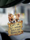 1 PC Animal Lover Two Sided Car Rearview Mirror Hanging Ornament Auto Accessory Puppy Lover Gifts Funny Backpack Keychain Hanging Decor Available for Many Dog Breeds - #06