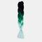 HalloweenColored Gradient Dirty Braids High Temperature Fiber Big Braids Ponytail Hair Extensions - 47