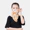 Summer Ear-mounted Printing Masks Neck Protection Sunscreen Scarf Shawl - Orange