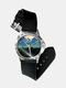 Casual Landscape Printed Men Watch Forest Leaves Flowers Pattern Women Quartz Watch - #02