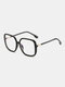 Men Anti-Blue Glasses Flat Mirror Square Glasses Frame Women Leopard Myopia Eyeglasses Frame - Black
