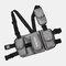 Men Oxford Vest Casual Tactical Multi-pocket Chest Bag Crossbody Bag - Grey