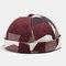 Collrown Men & Women Landlord Hat Summer Street Trends Melon Cap Vintage Innocent Metal Standard Brimless Hats - Red