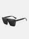 Unisex PC Full Square Frame One-piece Goggles UV Protection Oversized Fashion Sunglasses - Black