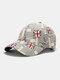 यूनिसेक्स कॉटन ब्रिटिश फ्लैग पैटर्न कैजुअल फैशन सनवीसर पीक कैप बेसबॉल टोपी - धूसर