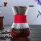 高温耐性ガラスコーヒーメーカーポットエスプレッソコーヒーマシン - 赤2